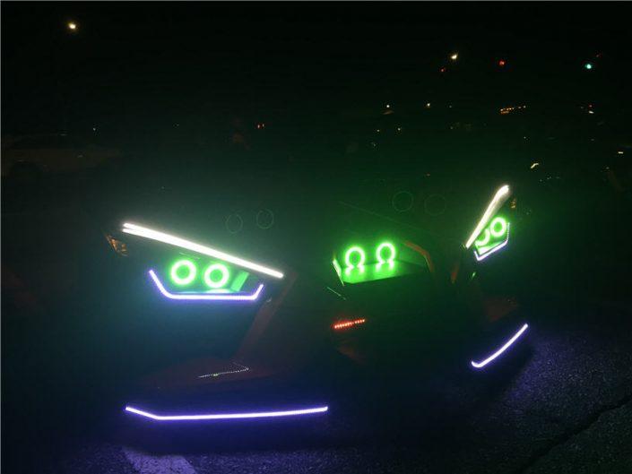 Polaris Slingshot Halo Light Installation on Long Island